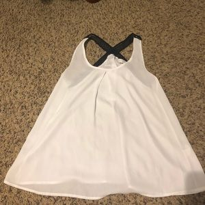 Black/white tank top